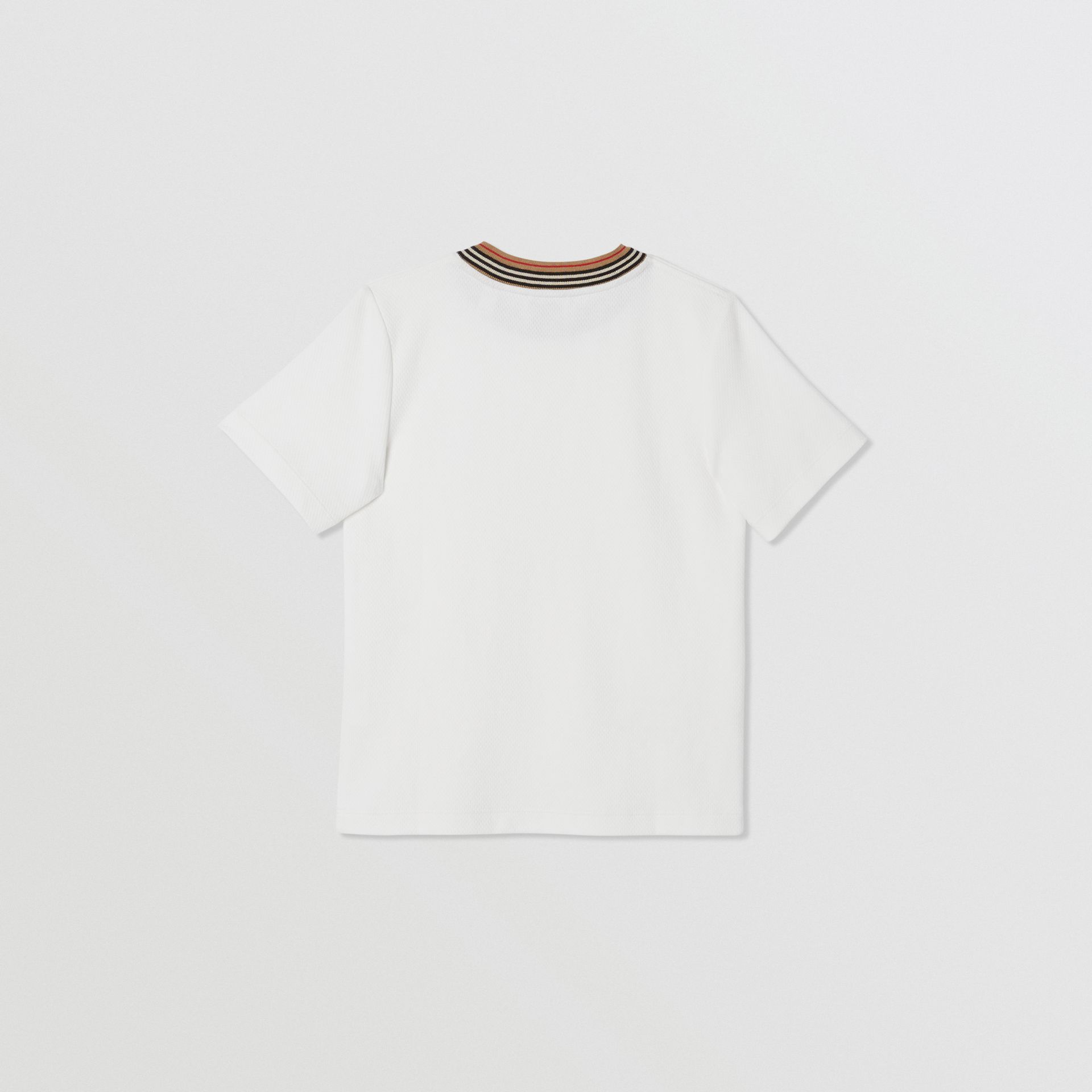 Contrast Logo Graphic Jersey Mesh T-shirt in White | Burberry - gallery image 3
