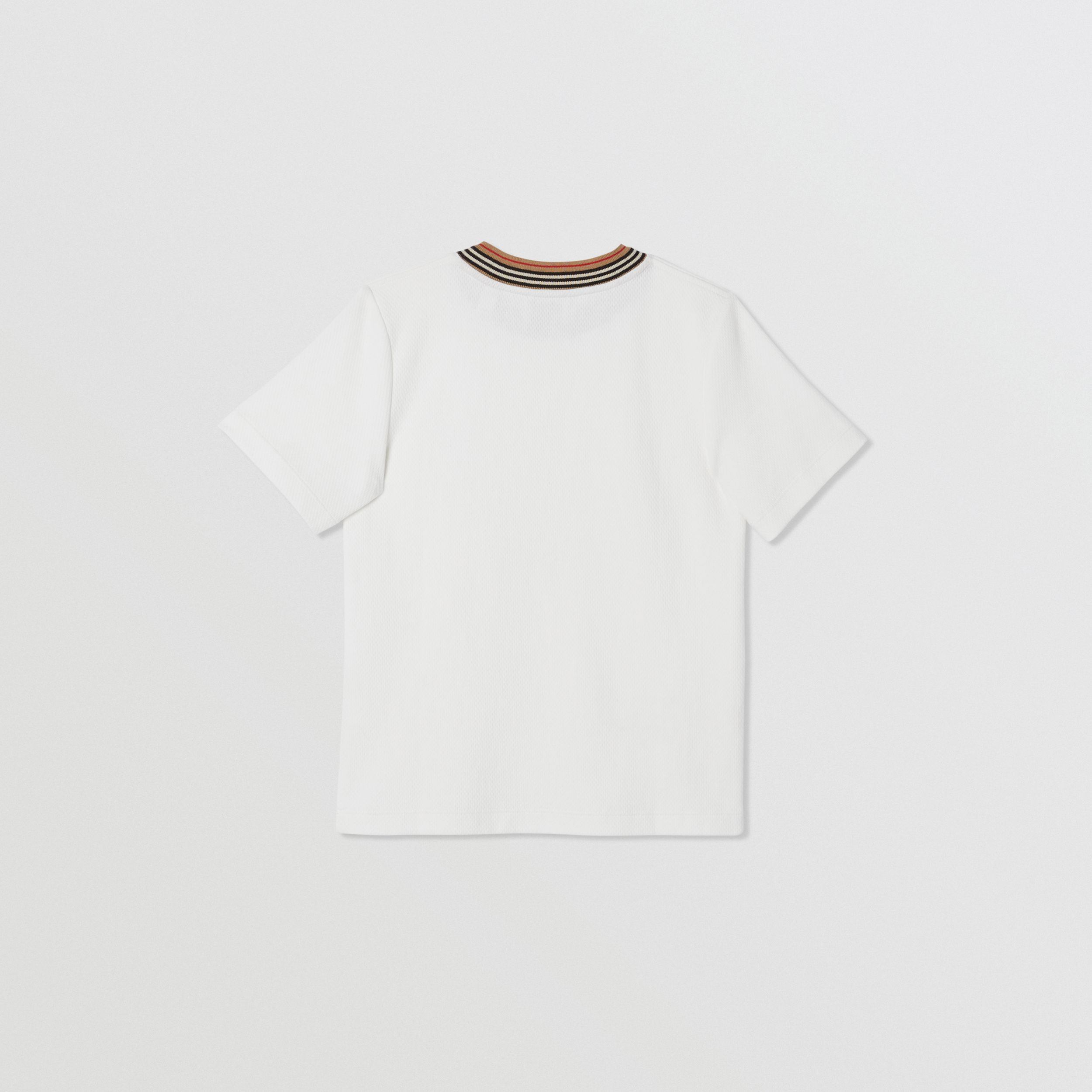 Contrast Logo Graphic Jersey Mesh T-shirt in White | Burberry - 4