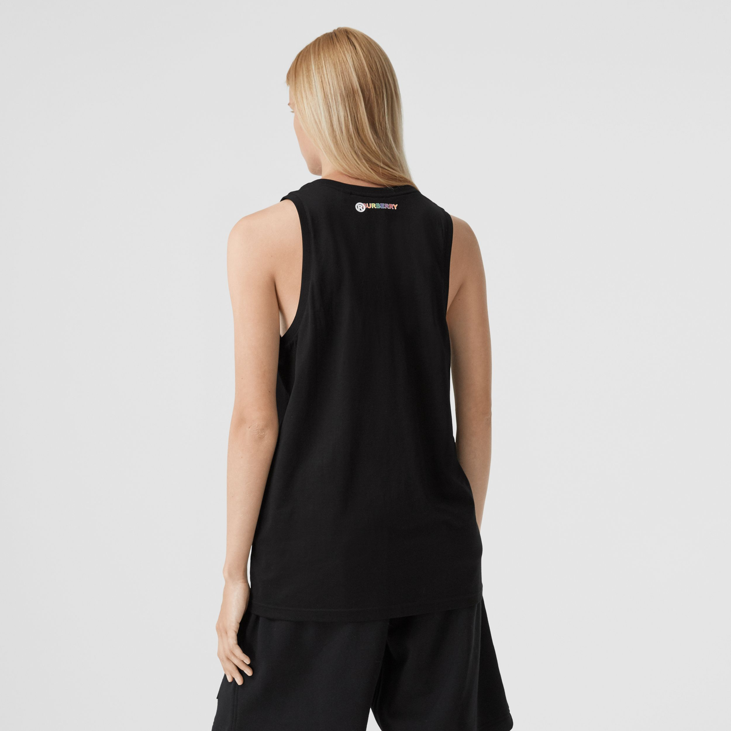 Rainbow Appliqué Cotton Vest – Unisex in Black | Burberry - 3