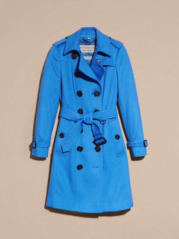 Cornflower Sandringham Fit Cashmere Trench Coat Cornflower - cell image 3