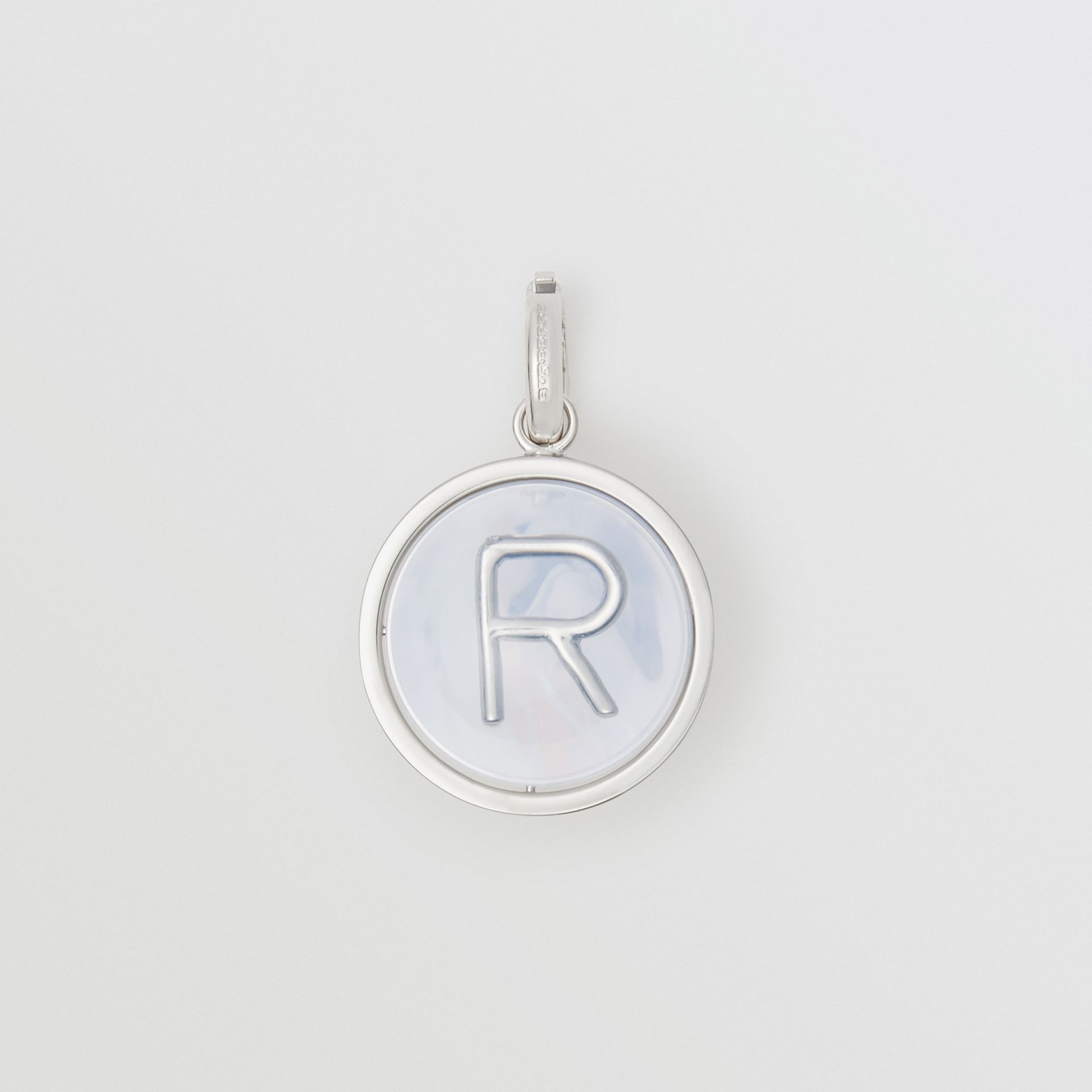 Marbled Resin 'R' Alphabet Charm in Palladio/nacre - Women | Burberry Singapore - gallery image 0
