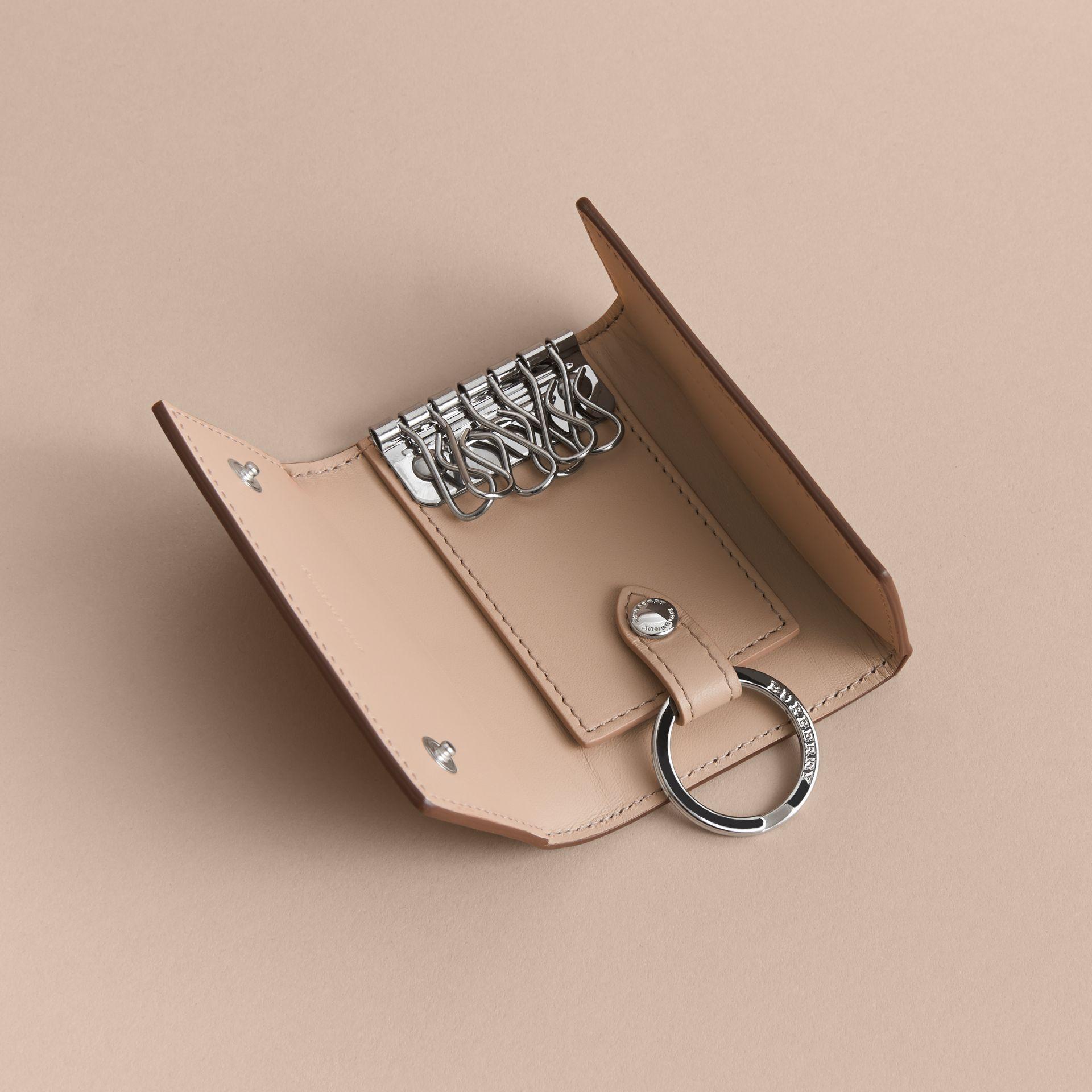 London Leather Key Holder - Men | Burberry - gallery image 4