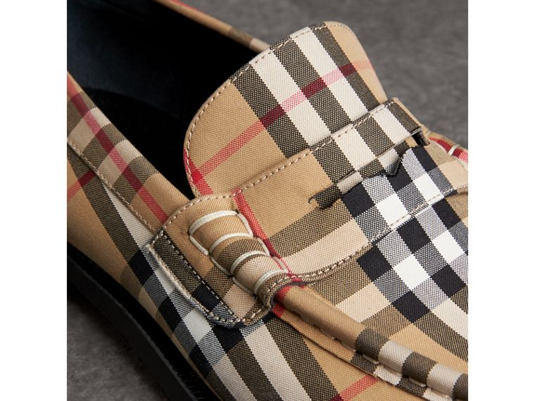 Vintage Check Cotton Loafers in Antique Yellow - Men | Burberry United Kingdom - cell image 1