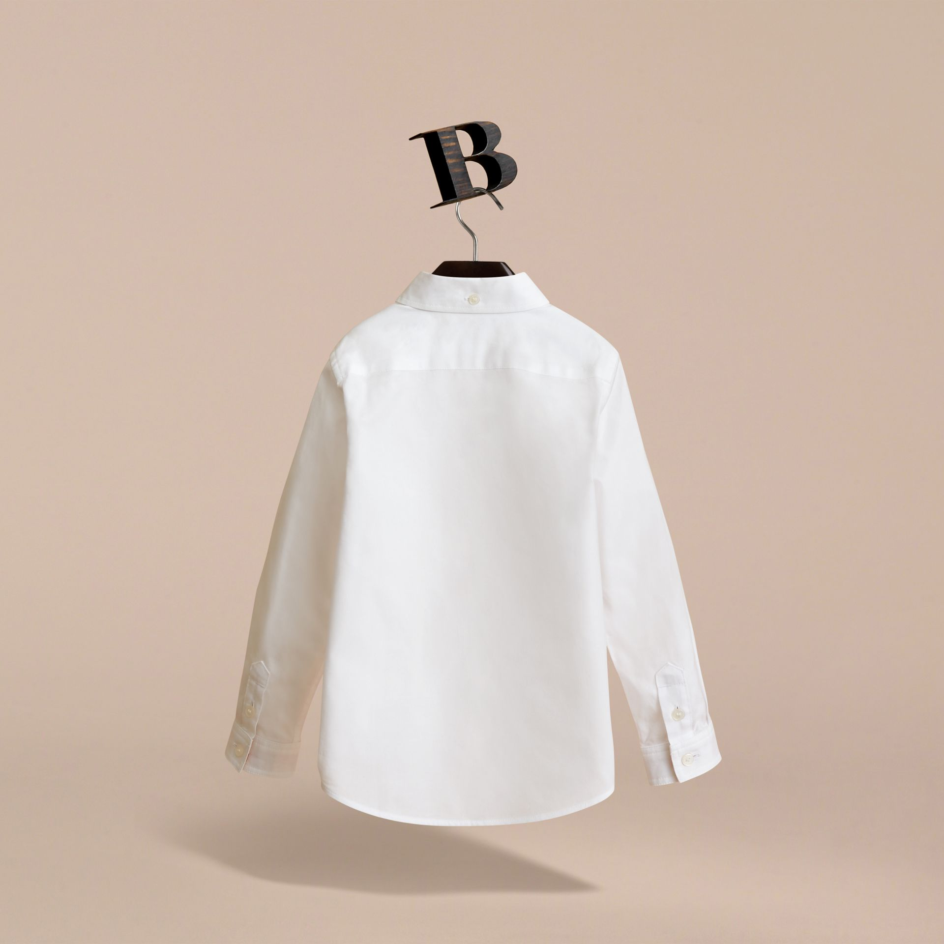 Cotton Button-down Collar Shirt in White - Boy | Burberry Hong Kong - gallery image 2