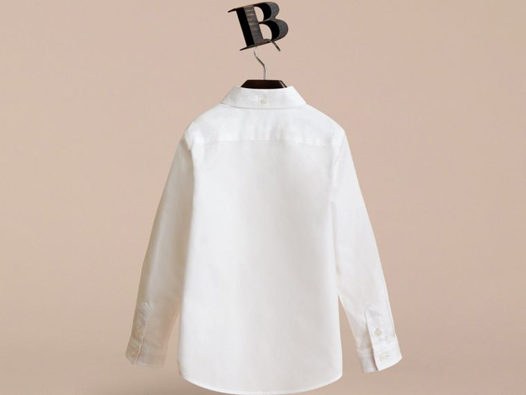 Camicia in cotone con colletto button-down (Bianco) - Bambino | Burberry - cell image 2