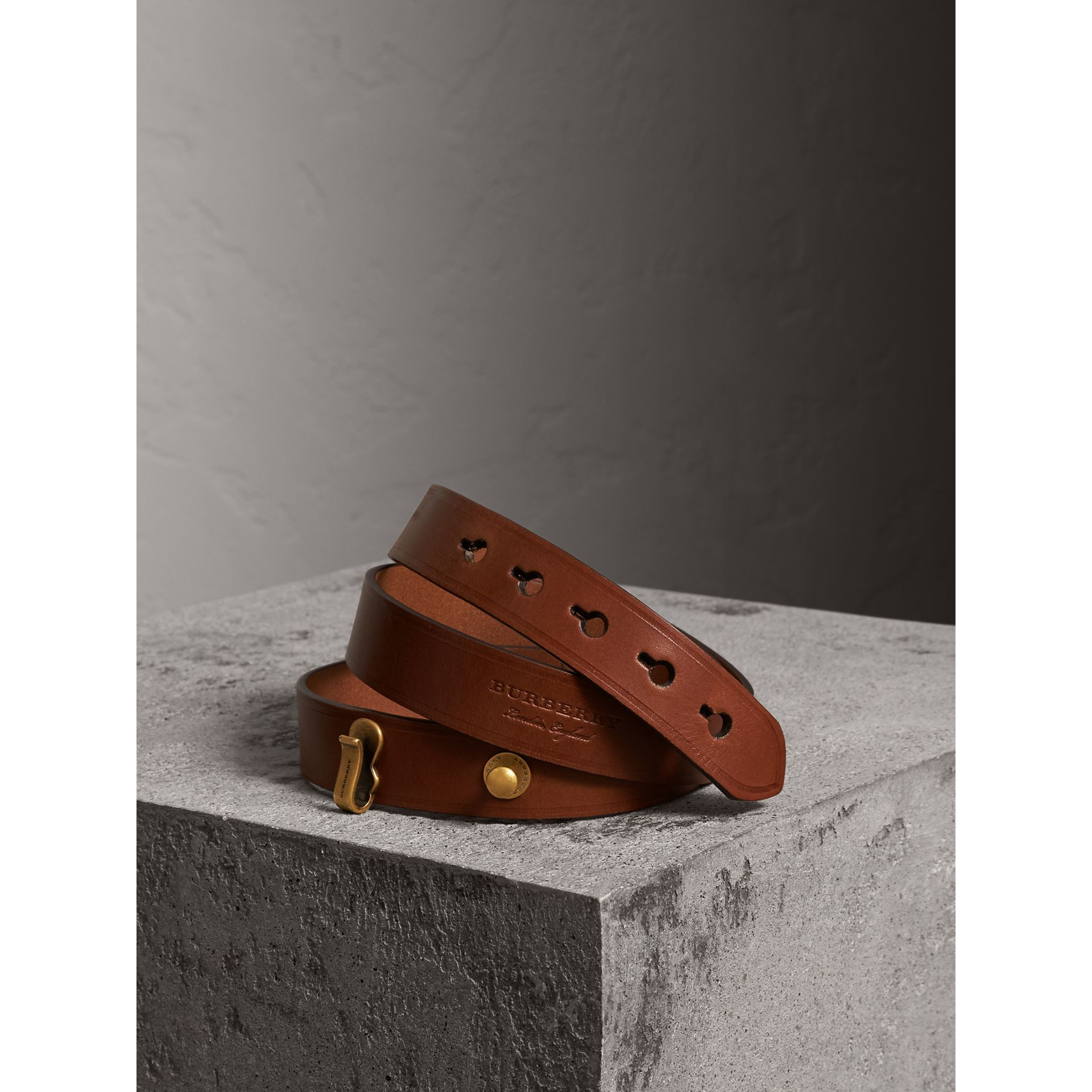 Bridle Leather Belt in Tan - Women | Burberry - gallery image 0