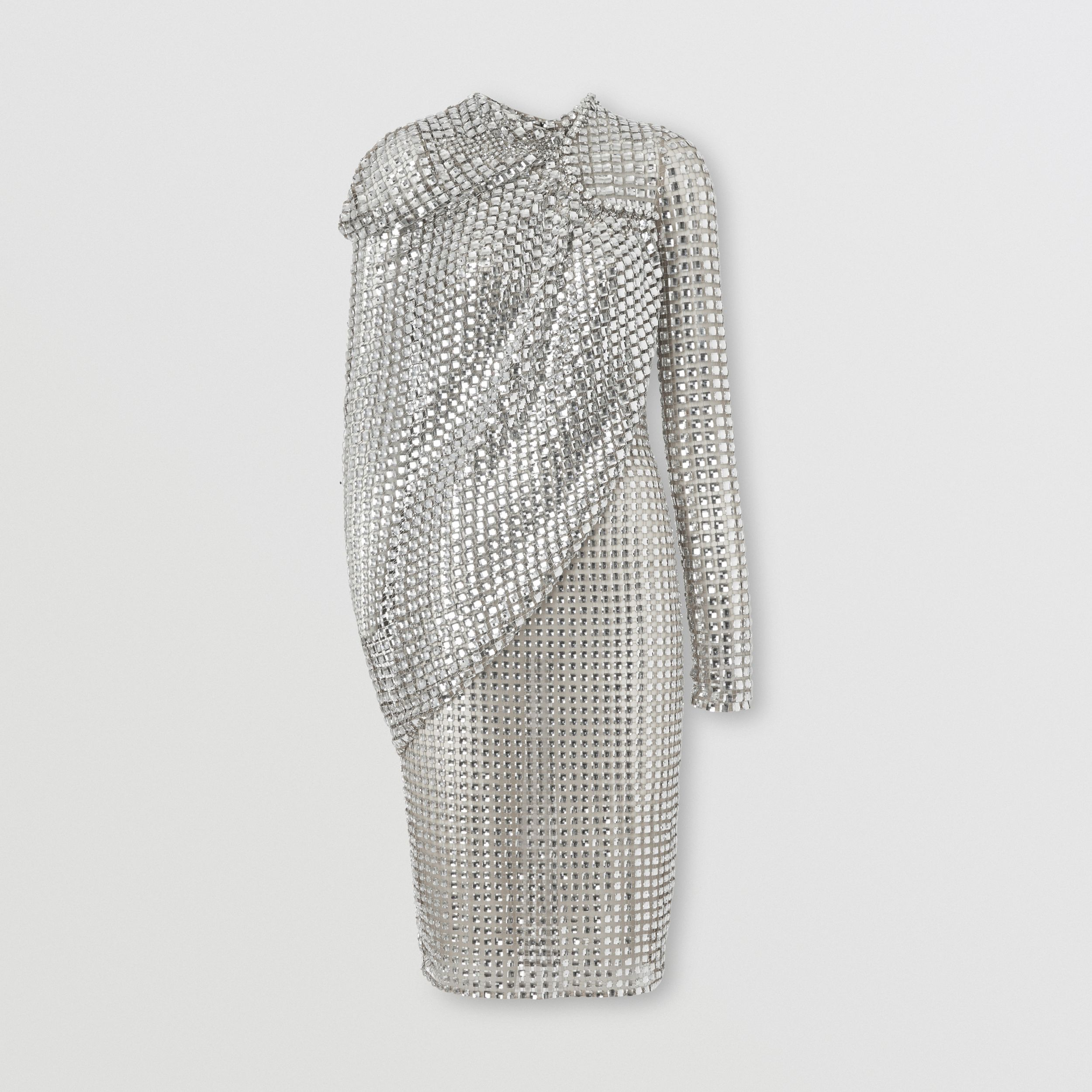 Cape Detail Crystal Embellished Tulle Dress - Women | Burberry United Kingdom - 4