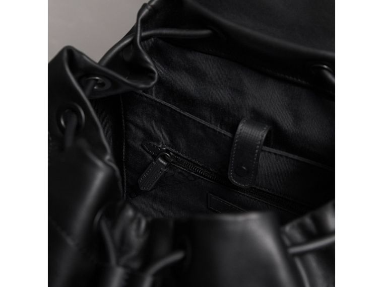 The Large Rucksack in Leather with Beasts Motif in Black - Men | Burberry - cell image 4
