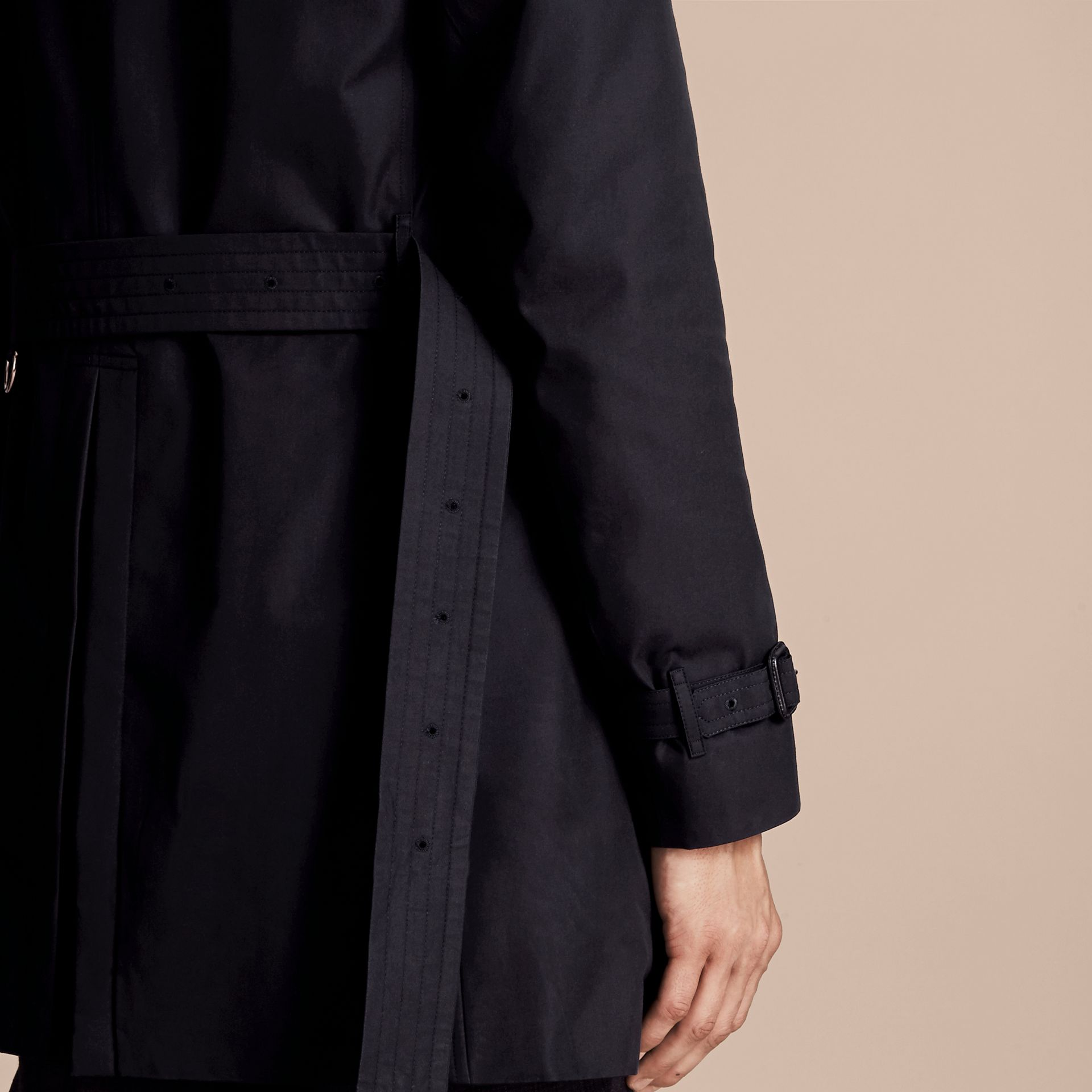 Navy The Chelsea – Long Heritage Trench Coat Navy - gallery image 6