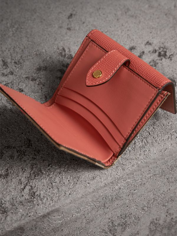 House Check and Leather Wallet in Cinnamon Red - Women | Burberry Canada - cell image 3
