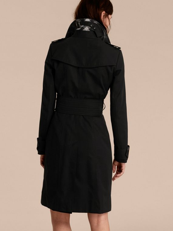 Cotton Gabardine Trench Coat with Oversize Buckles - cell image 2