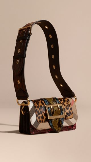The Patchwork in Leopard-print Calfskin and Snakeskin
