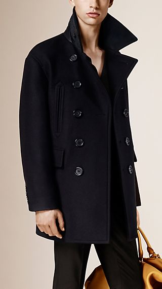 Virgin Wool Blend Pea Coat