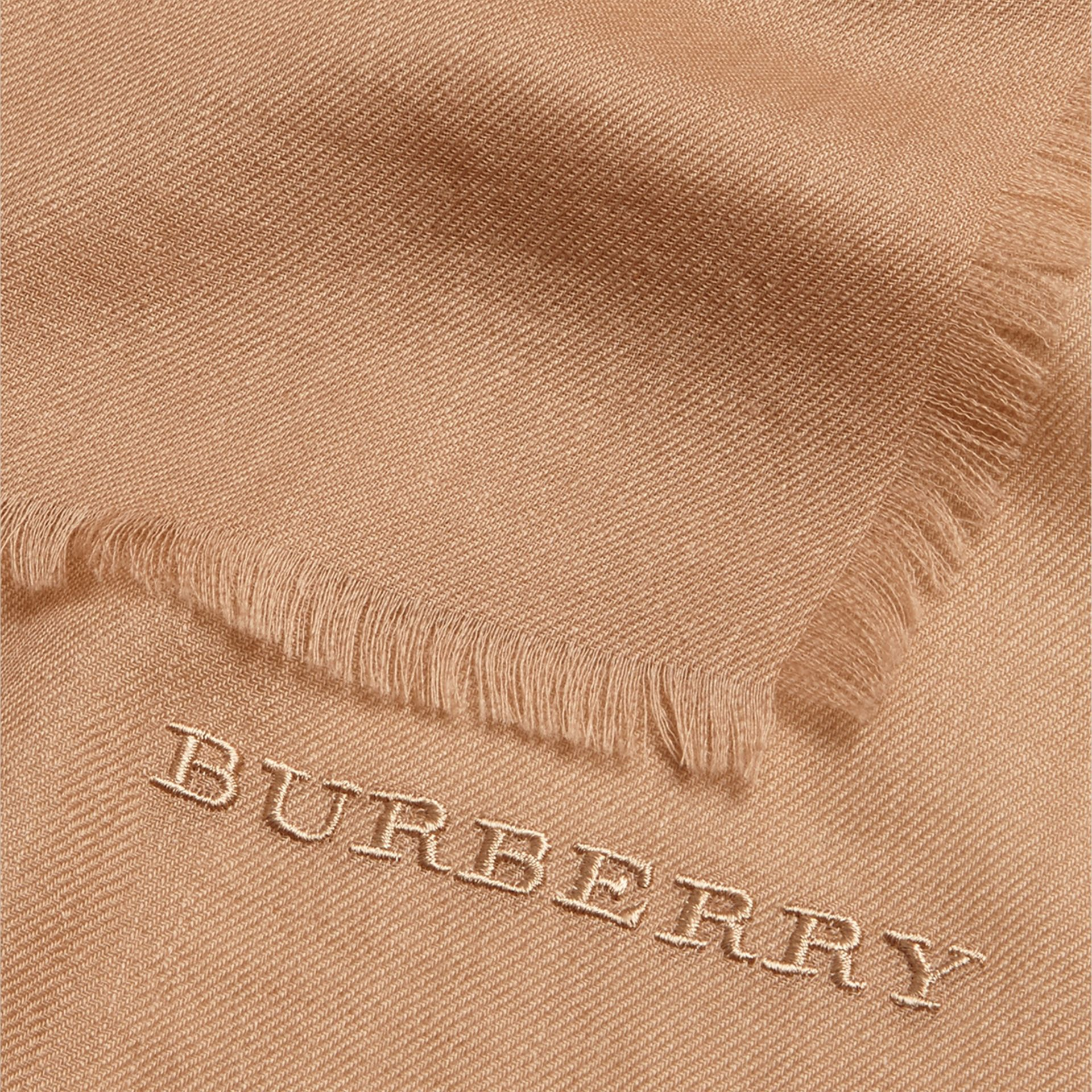 Camel The Lightweight Cashmere Scarf Camel - gallery image 5