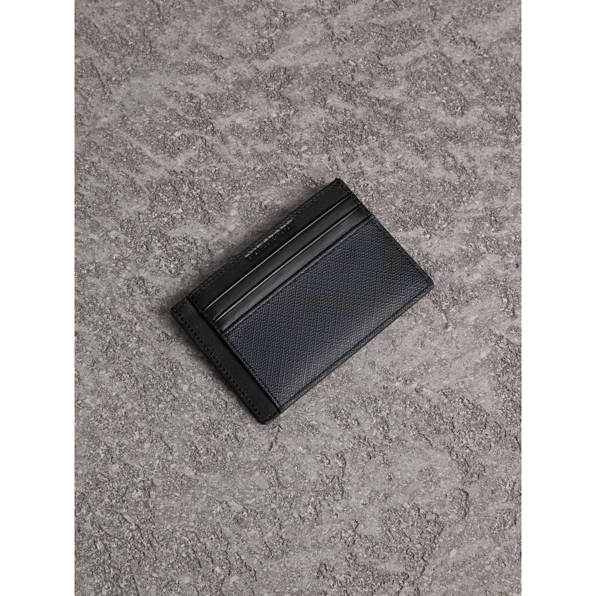 London Check Card Case in Navy/black - Men | Burberry United Kingdom - gallery image 0