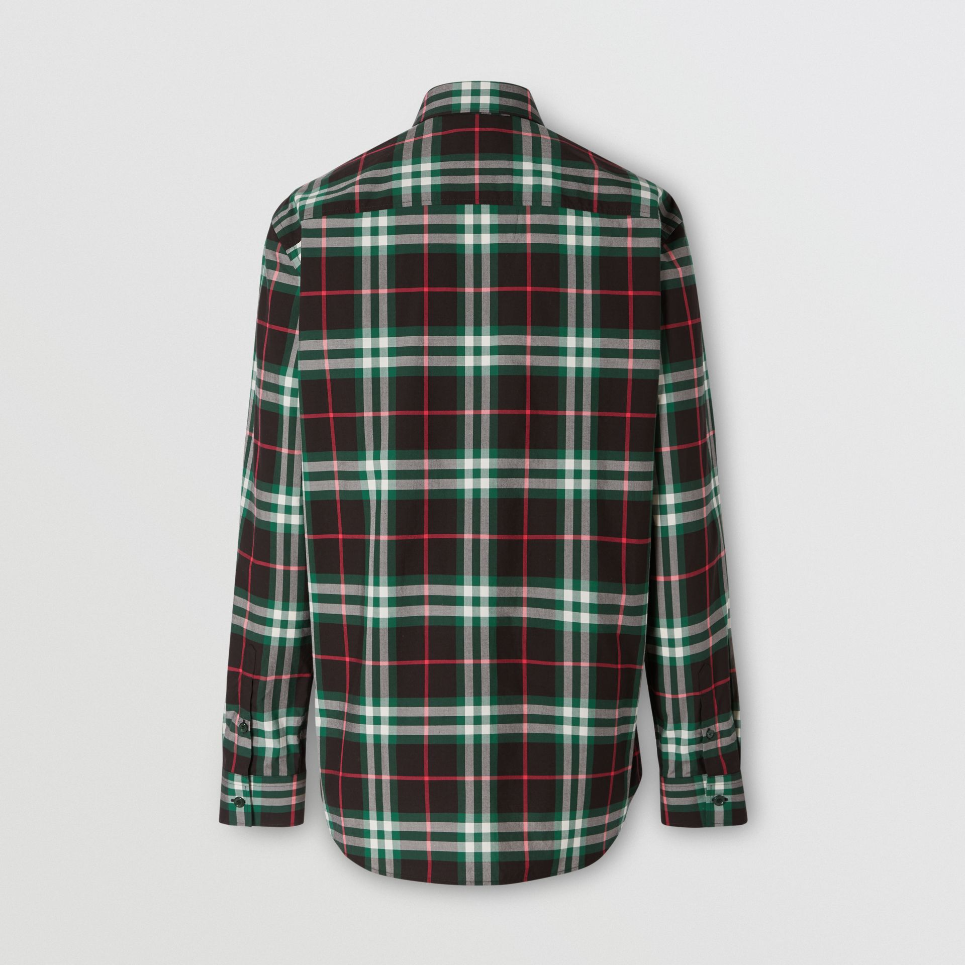 Check Cotton Poplin Shirt in Viridian Green - Men | Burberry - gallery image 5