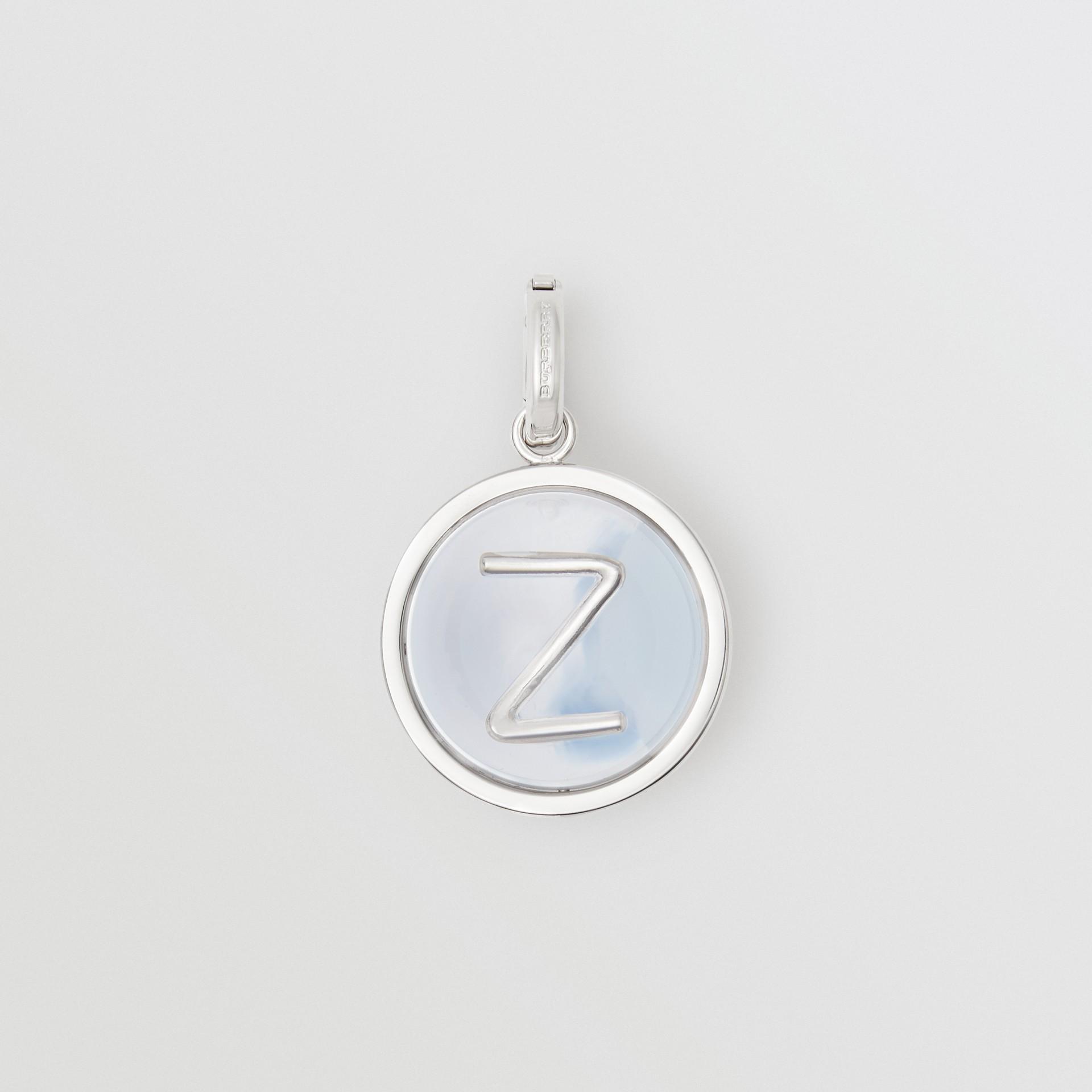 大理石效果樹脂字母「Z」吊飾 (帕拉迪歐色/珍珠母色) - 女款 | Burberry - 圖庫照片 0
