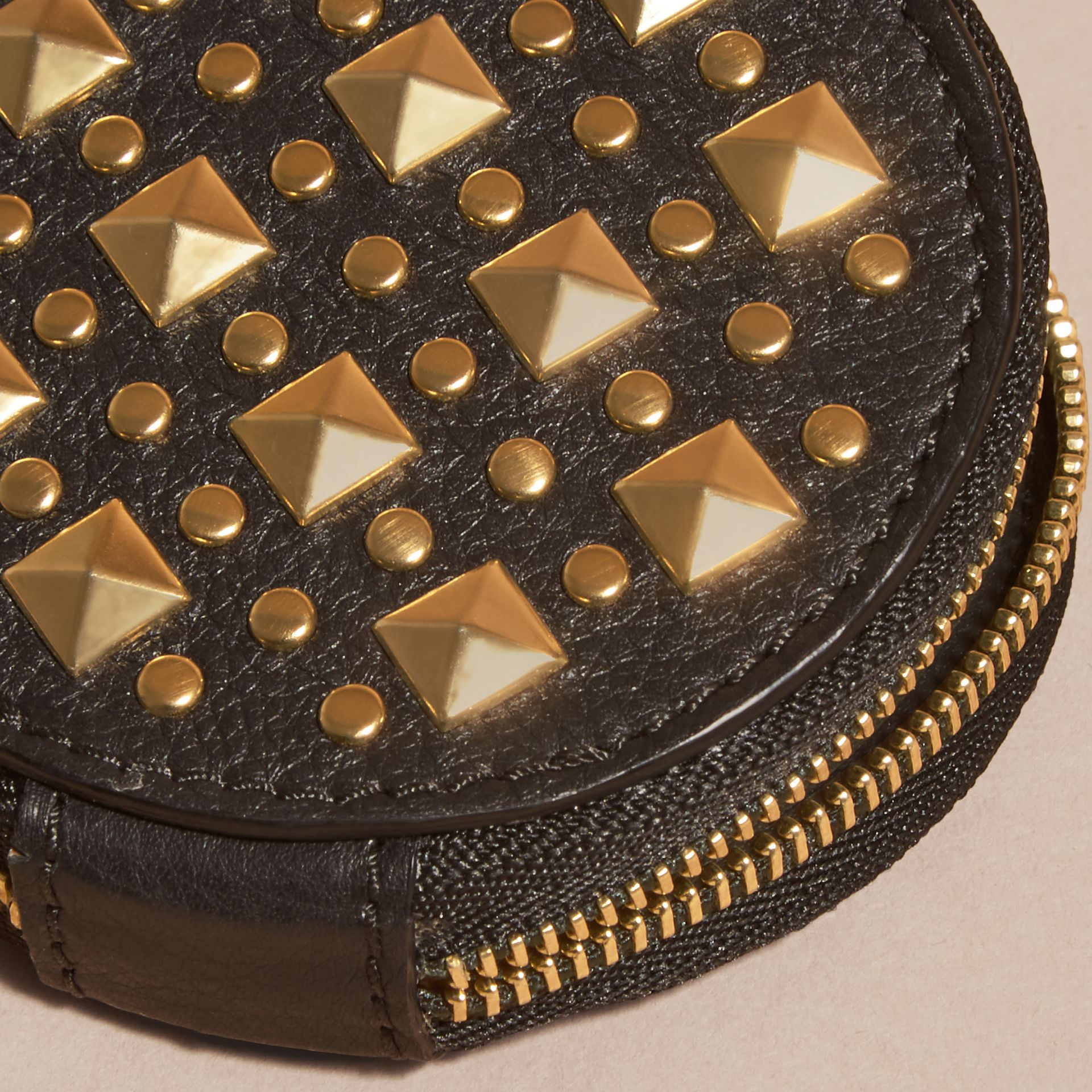Studded Leather Coin Case - gallery image 2