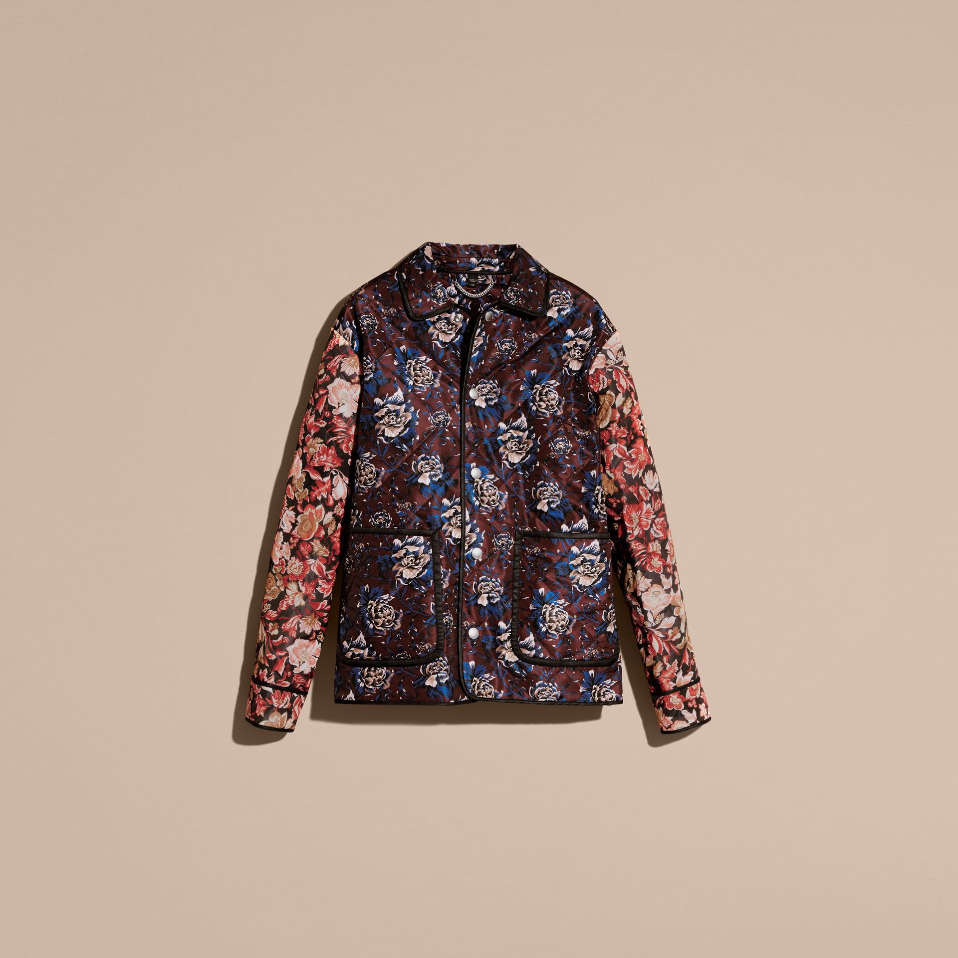 Peony Rose Print Quilted Jacket - gallery image 4
