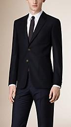 Modern Fit Virgin Wool Half-canvas Jacket