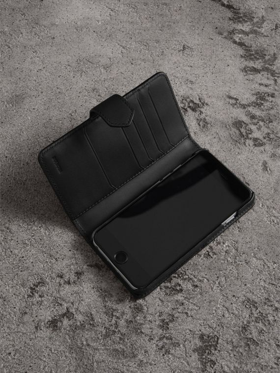 Trench Leather iPhone 7 Case in Black - Men | Burberry United States - cell image 3