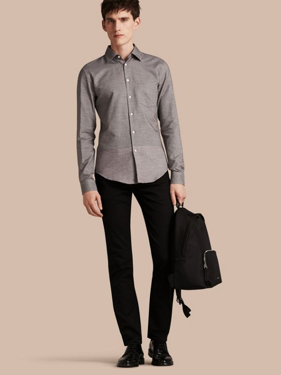 Puppytooth Cotton Shirt