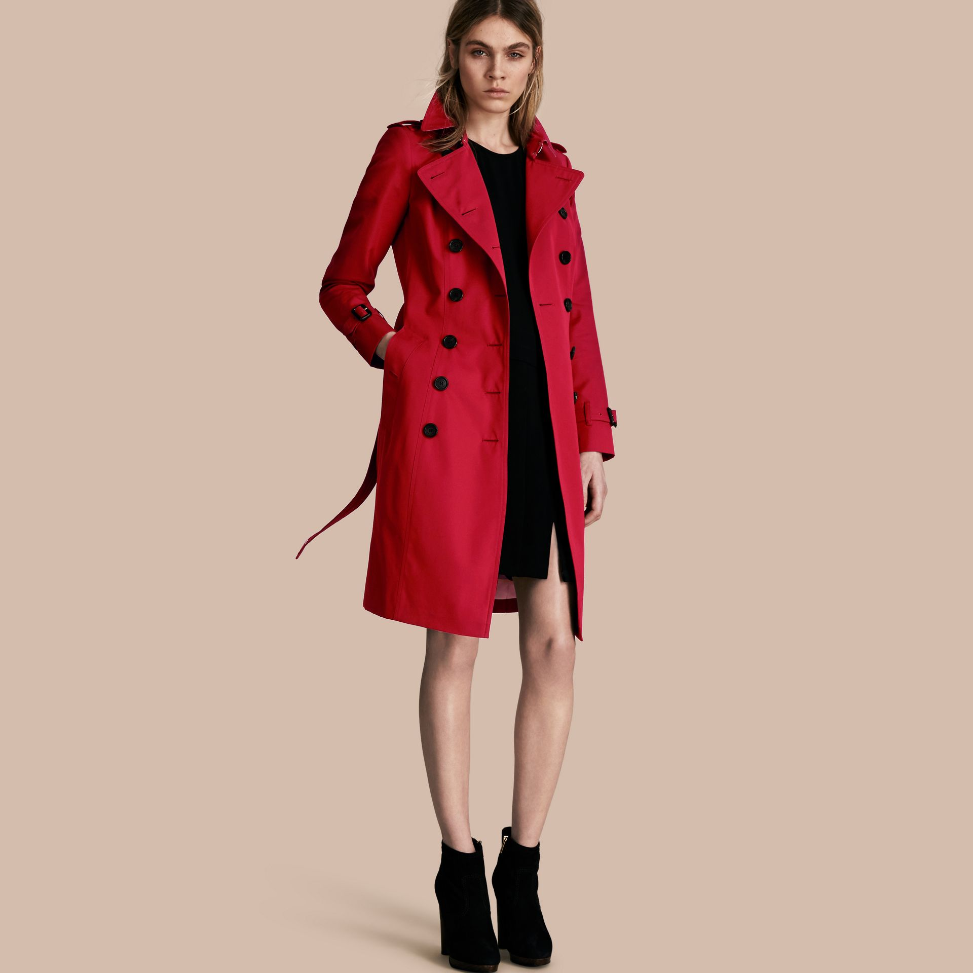 Parade red The Chelsea – Long Heritage Trench Coat Parade Red - gallery image 1