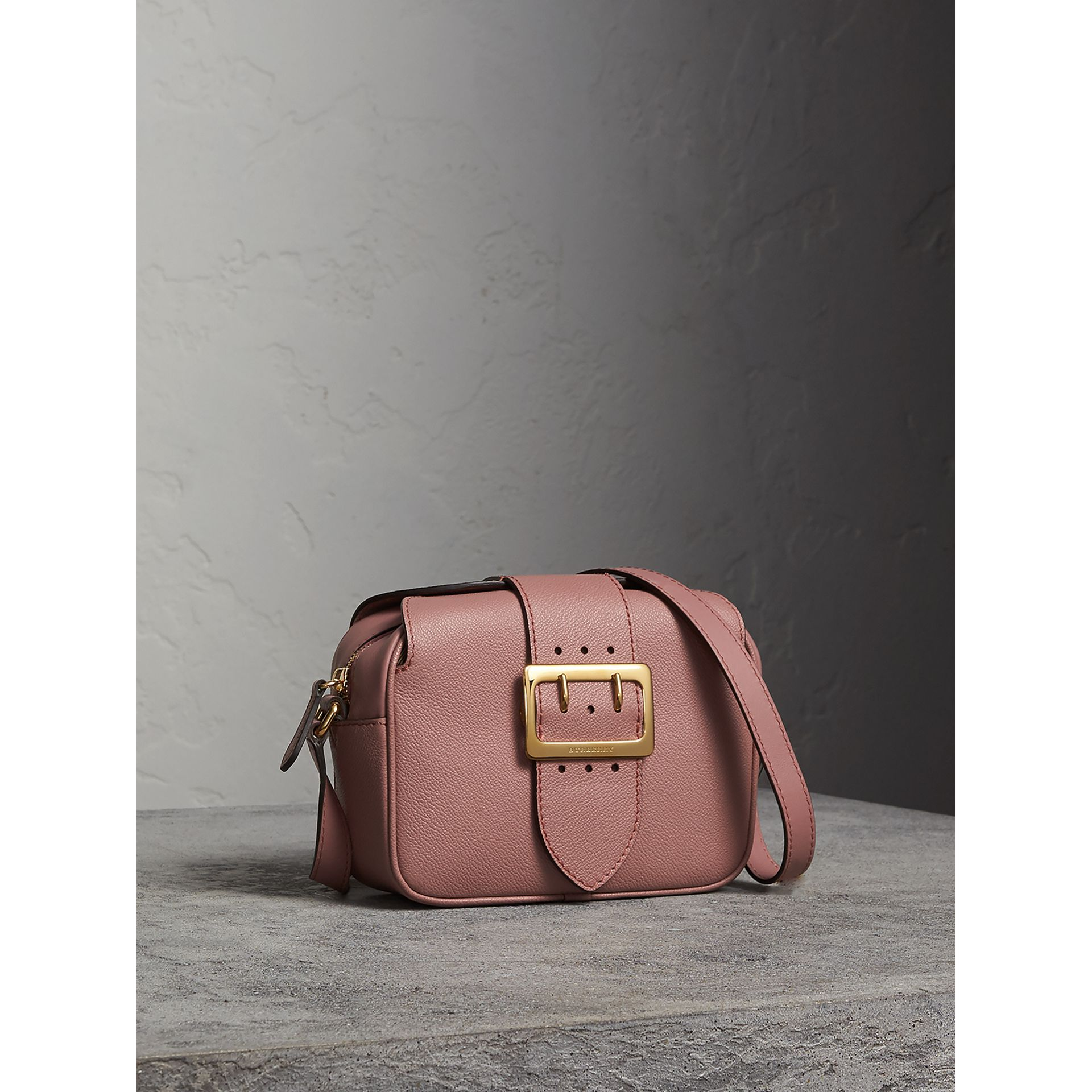 The Small Buckle Crossbody Bag in Leather in Dusty Pink - Women | Burberry - gallery image 6