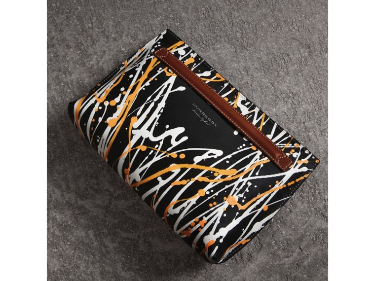 Trousse in pelle Trench con motivo a macchie (Nero/marroncino) - Donna | Burberry - cell image 4
