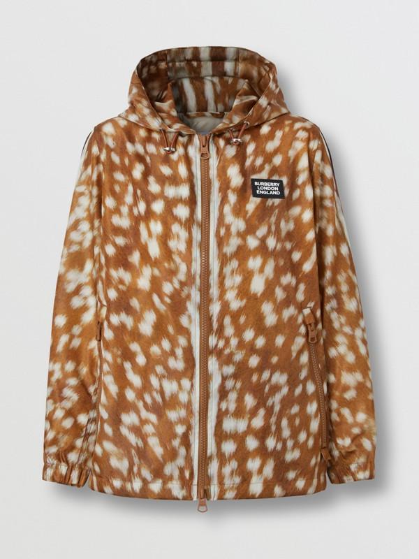 Deer Print ECONYL® Hooded Jacket in Honey - Women | Burberry - cell image 3