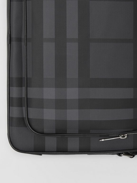 London Check Messenger Bag in Charcoal/black - Men | Burberry Singapore - cell image 1
