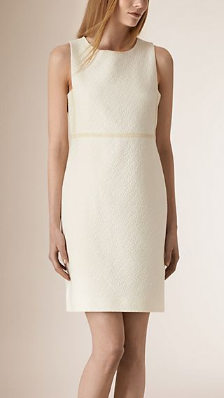 Diamond Jacquard Cotton Shift Dress