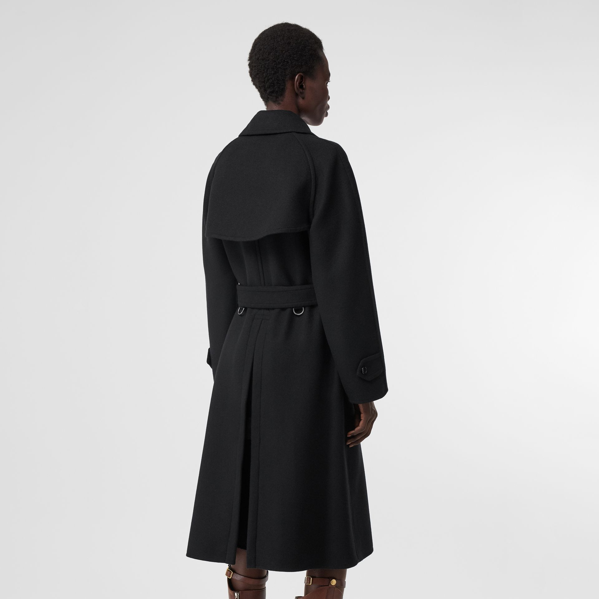 Double-faced Cashmere Trench Coat in Black - Women | Burberry United States - gallery image 2