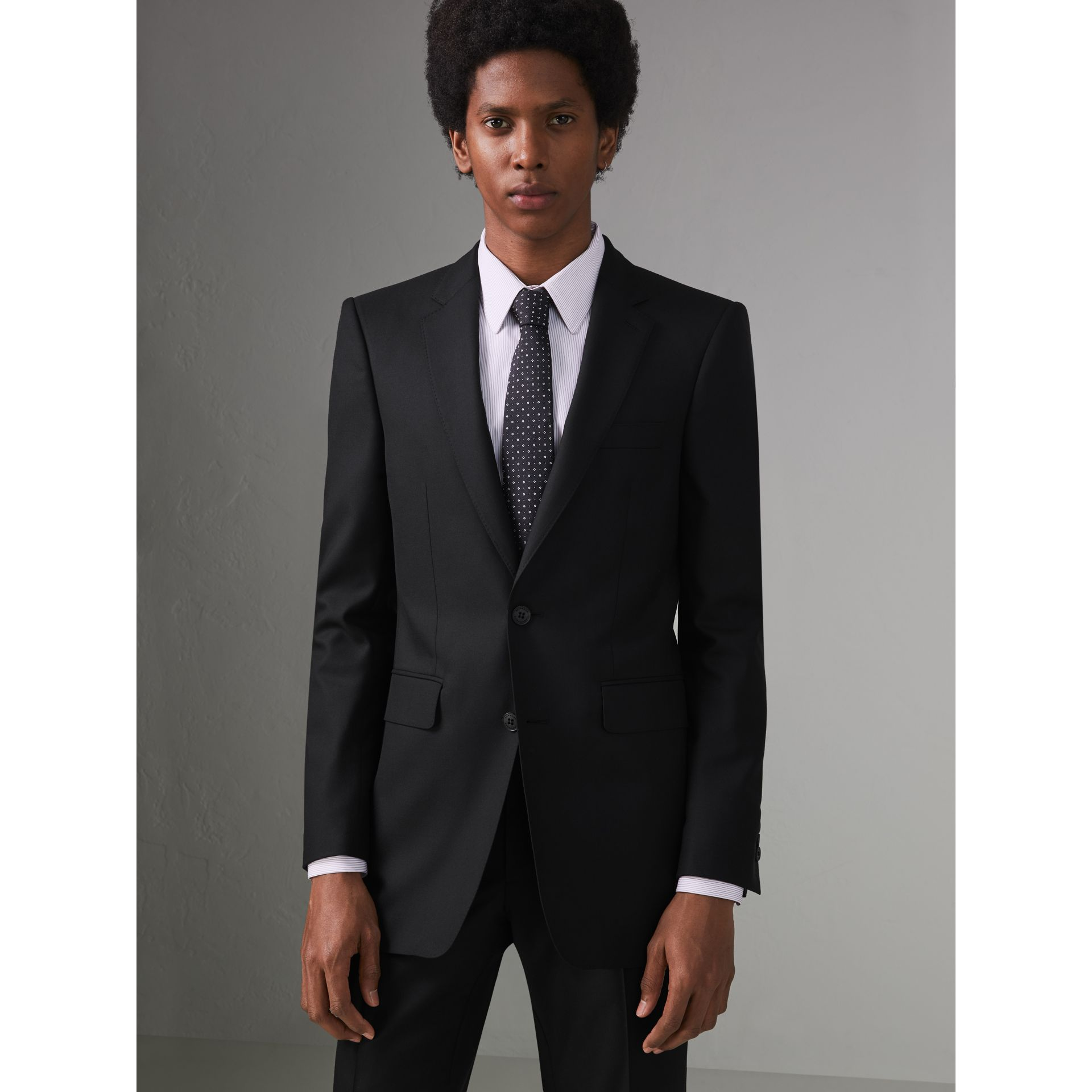 Modern Fit Wool Twill Suit in Black - Men | Burberry Canada - gallery image 6