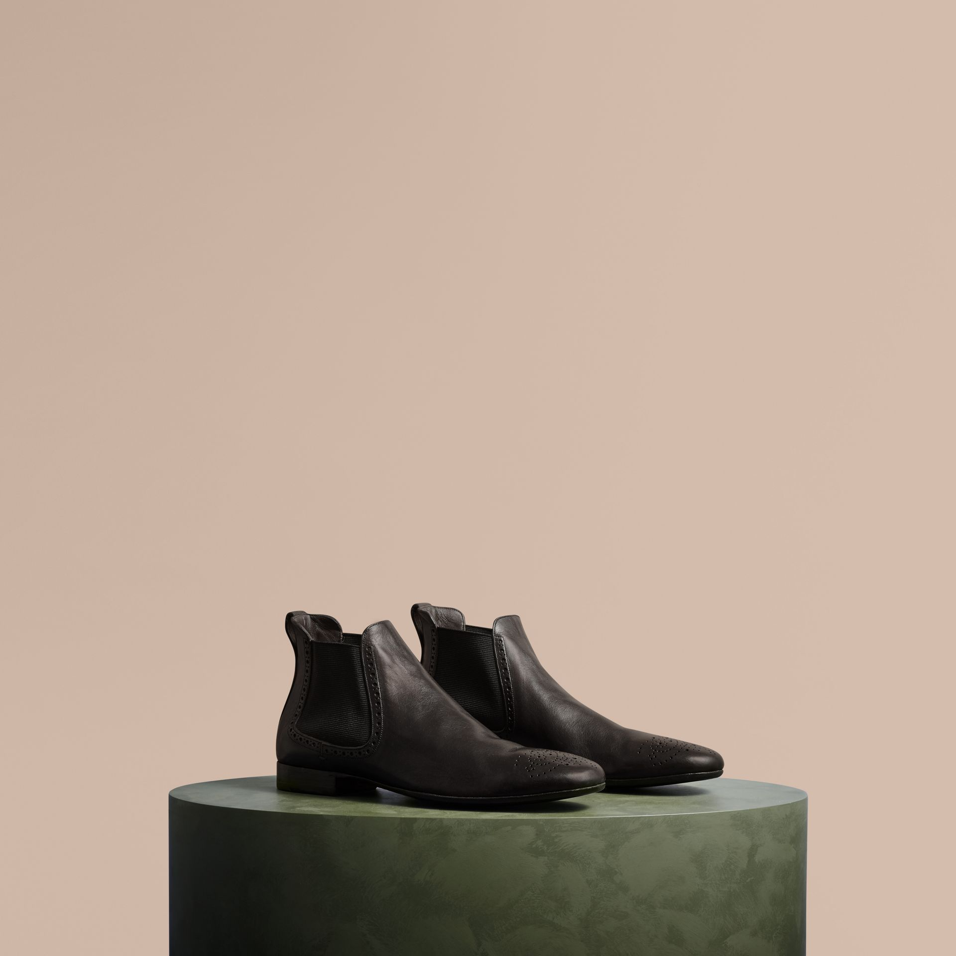 Ebony Washed-leather Chelsea Boots - gallery image 1