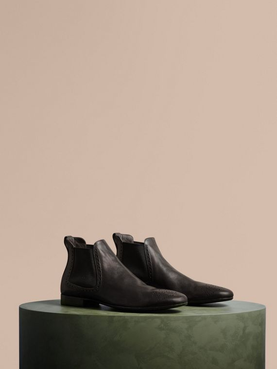 Washed-leather Chelsea Boots