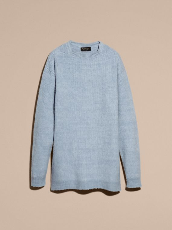 Hydrangea blue Brushed Wool Cashmere Sweater - cell image 3