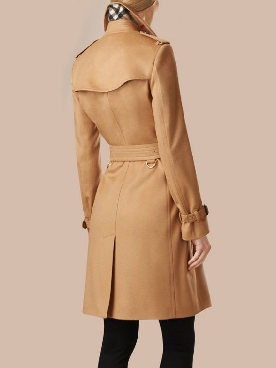 Camel Kensington Fit Cashmere Trench Coat Camel - cell image 2