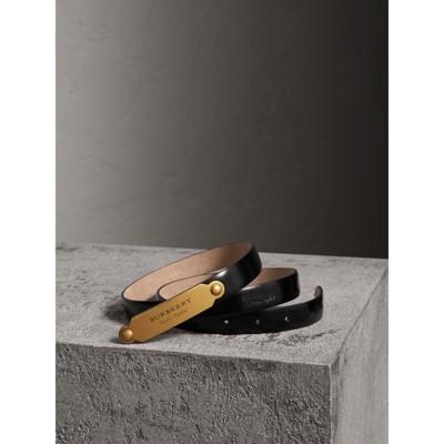 Plaque Buckle Leather Belt