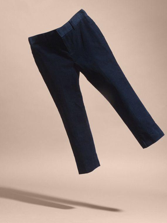 Navy Wool Cord Trousers - cell image 2
