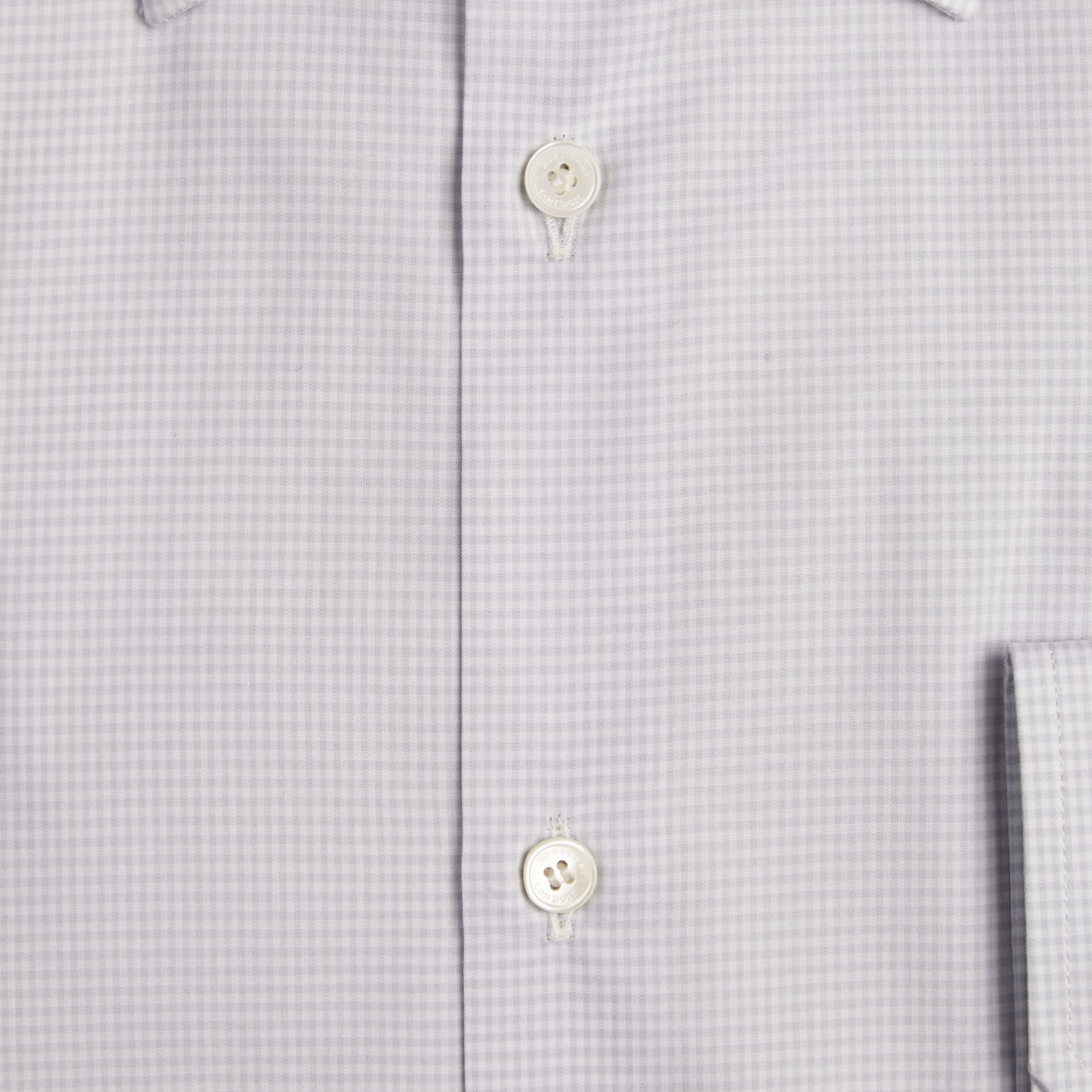 City grey Modern Fit Gingham Cotton Poplin Shirt City Grey - gallery image 2
