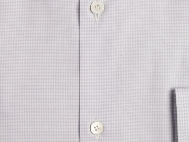City grey Modern Fit Gingham Cotton Poplin Shirt City Grey - cell image 1