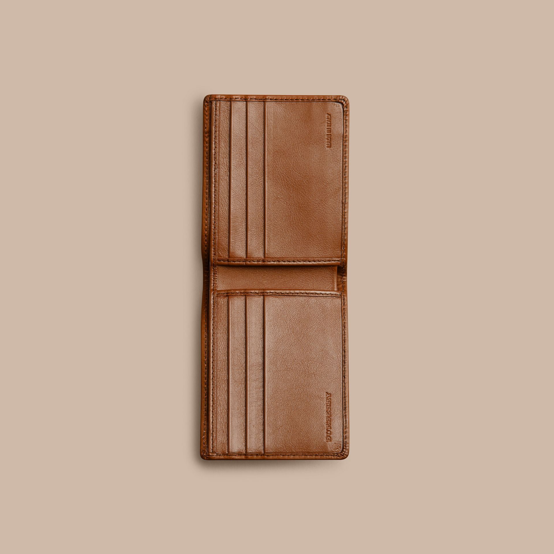 Horseferry Check Wallet Tan - gallery image 4