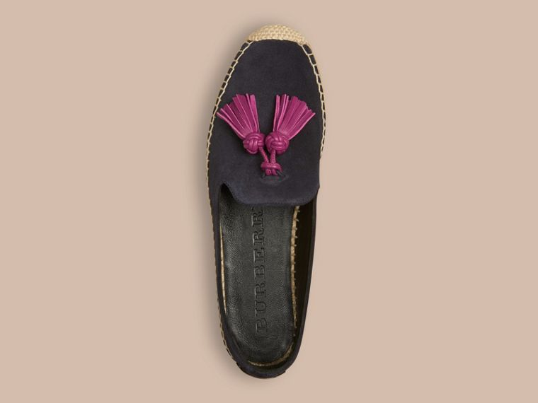 Navy Tasselled Suede Espadrilles - cell image 1