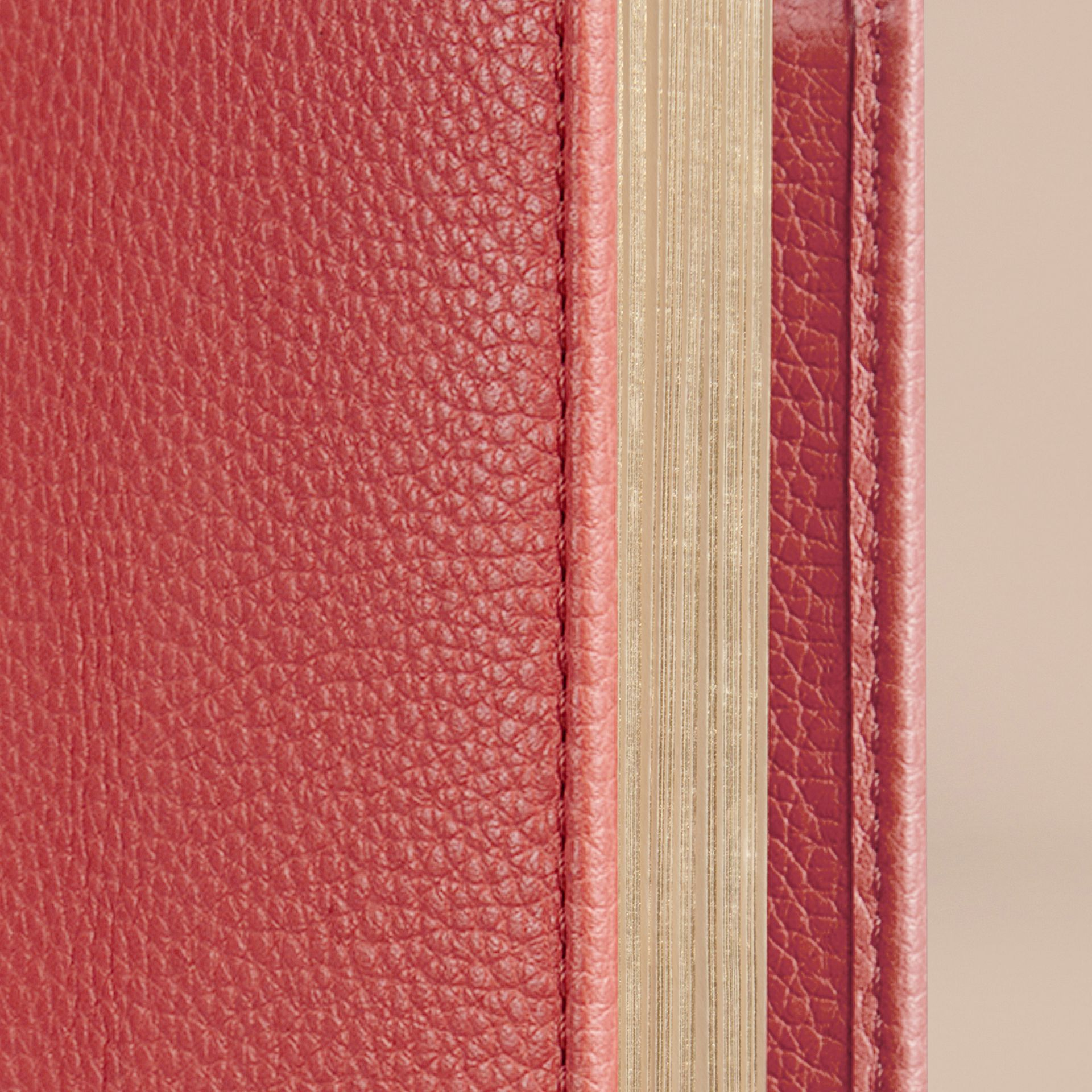 Grainy Leather A5 Notebook in Orange Red - gallery image 2