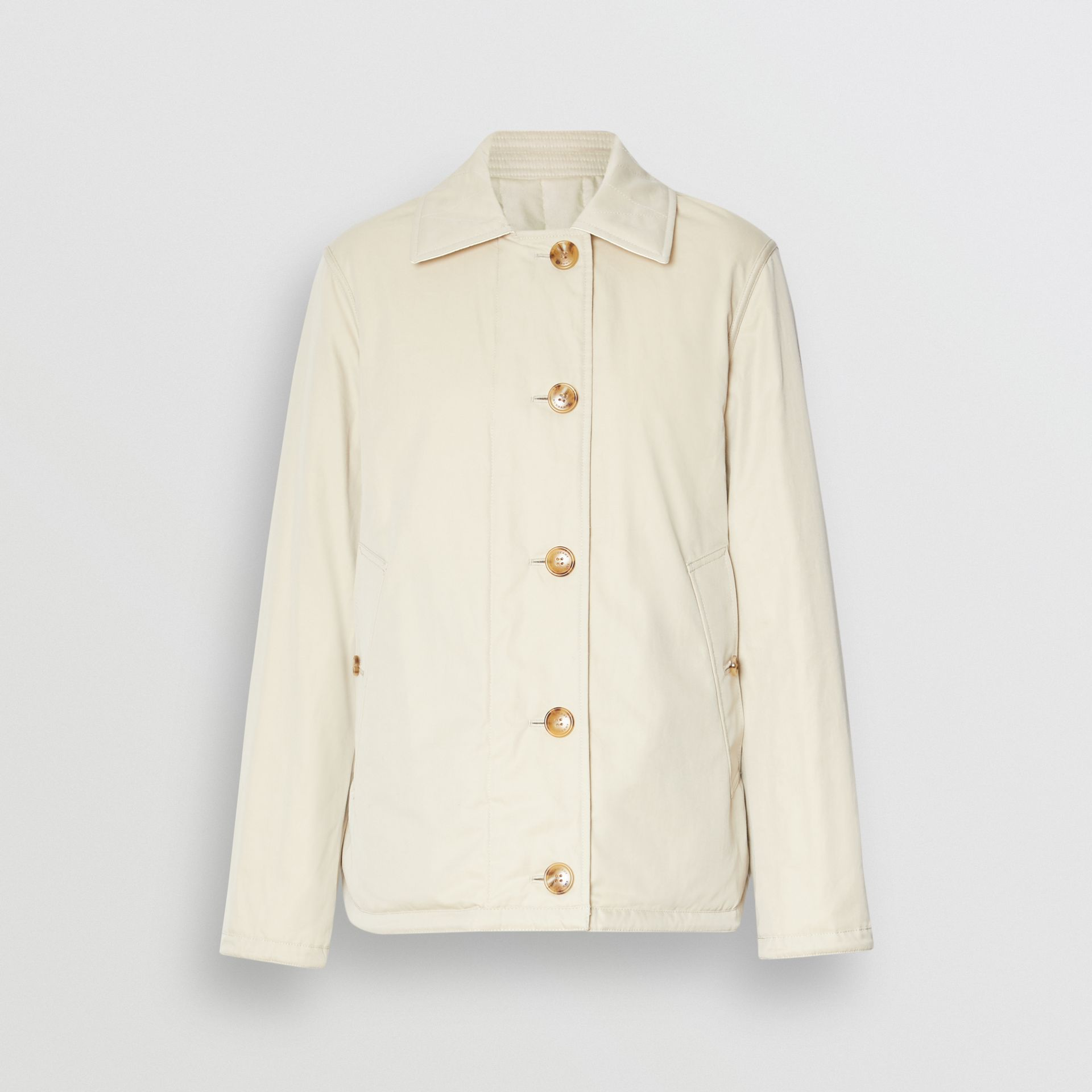 Reversible Quilted Cotton Jacket in Natural White - Women | Burberry - gallery image 7