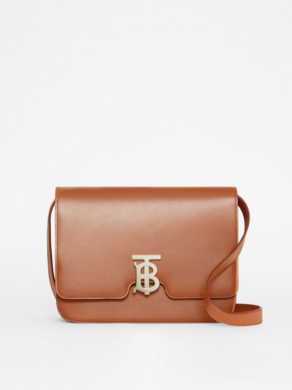 Borsa TB media in pelle (Marrone Malto)