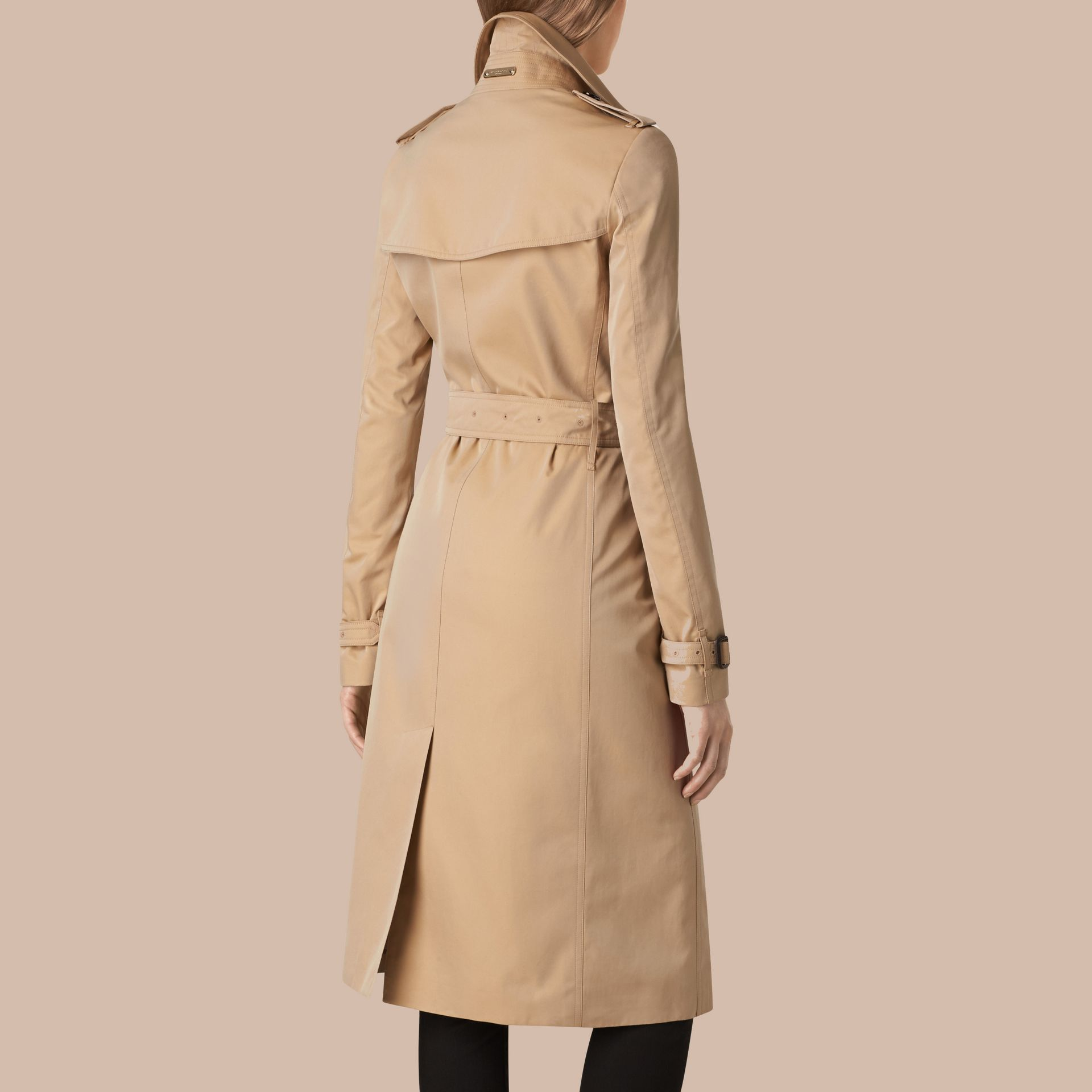 Honey Cotton Gabardine Trench Coat - gallery image 3