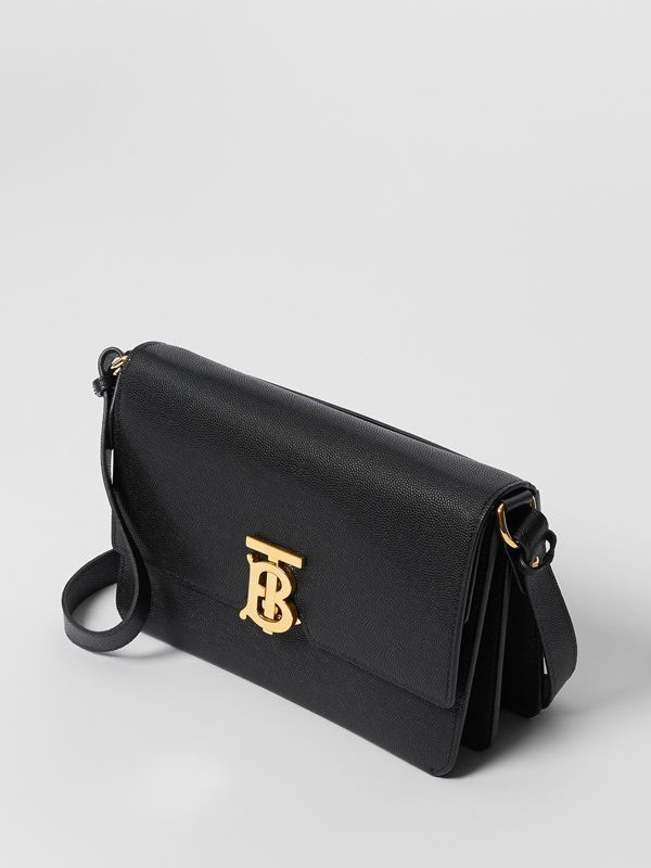 Small Monogram Motif Leather Crossbody Bag in Black - Women | Burberry - cell image 3