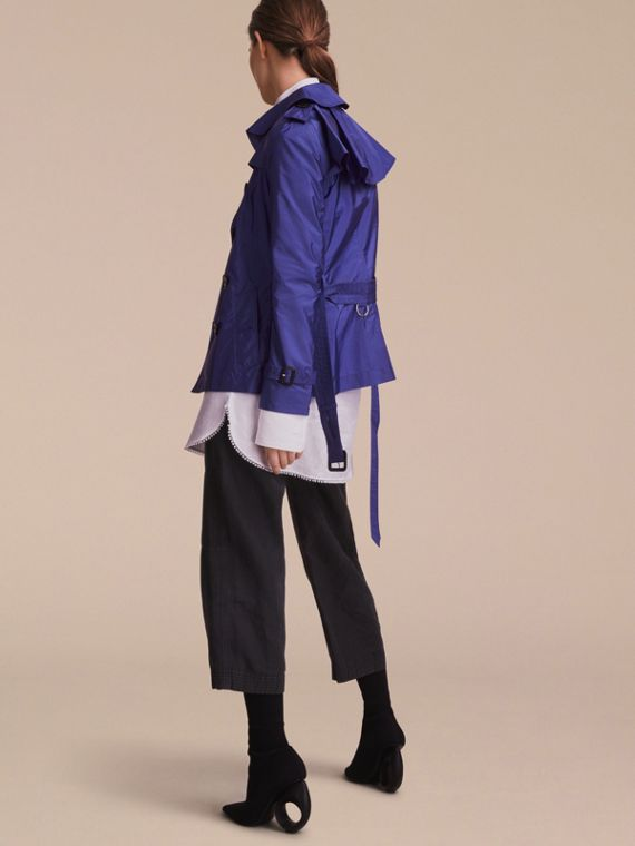 Showerproof Trench Coat in Sapphire Blue - Women | Burberry - cell image 2